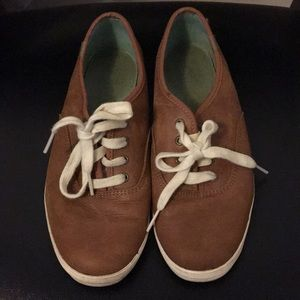 Keds Cognac Leather Sneakers